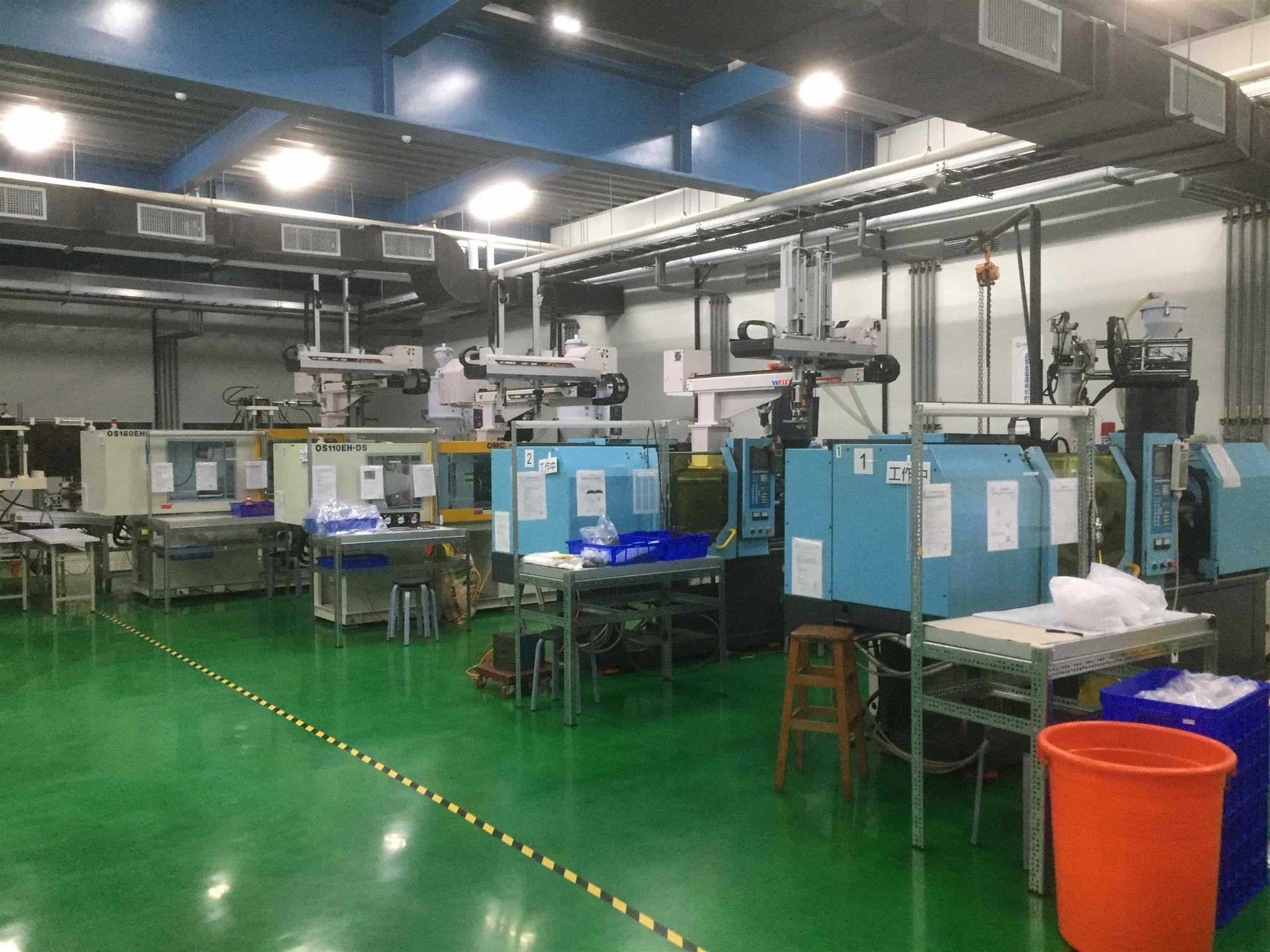 molding area-injection machines